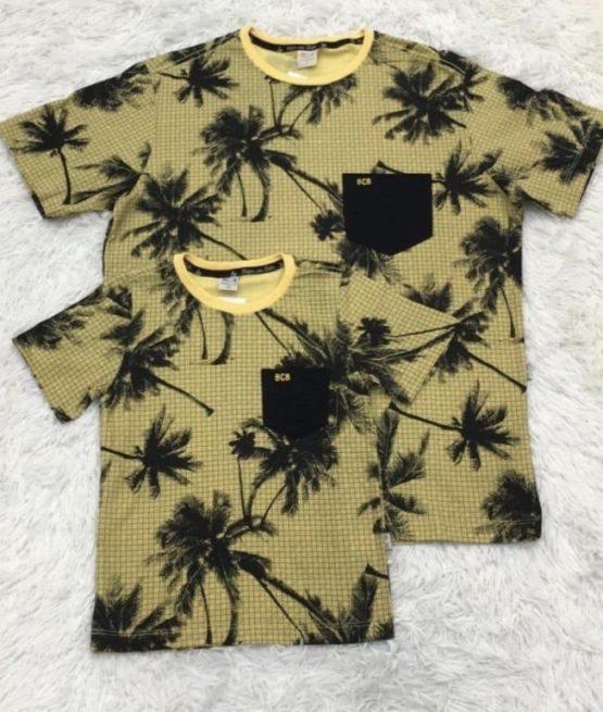 Camiseta Hawaii Amarela Pai