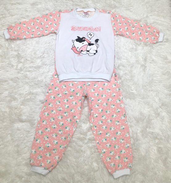 Pijama Vaquinha Manga Longa