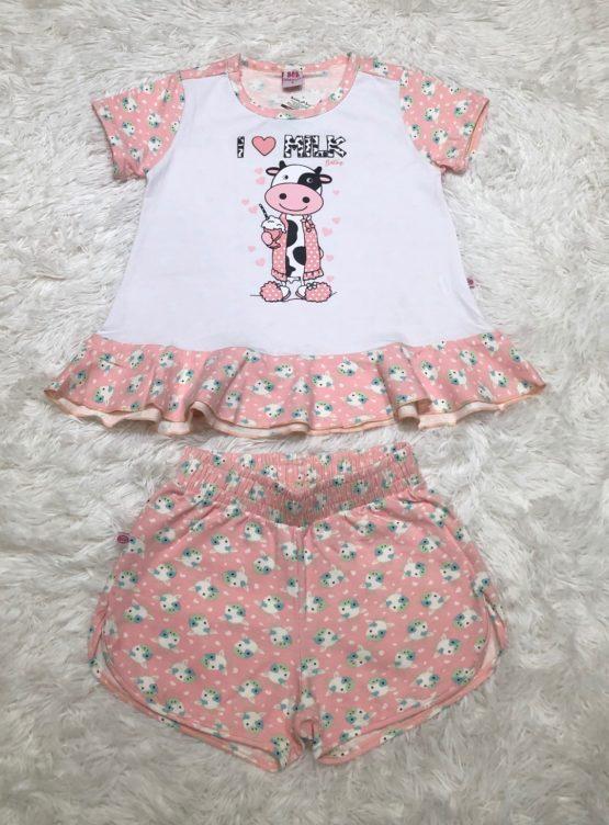 Pijama Curto Vaquinha