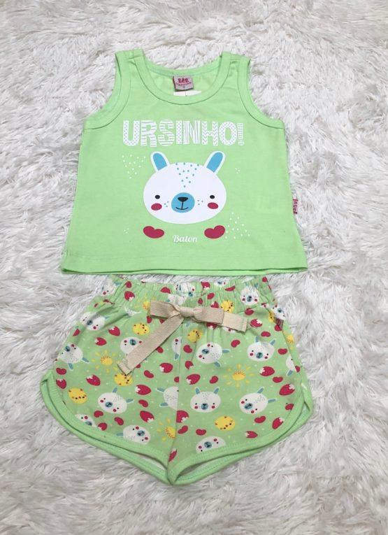 Pijama Curto Ursinho