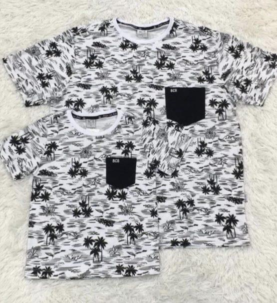Camiseta Hawaii Branca Pai