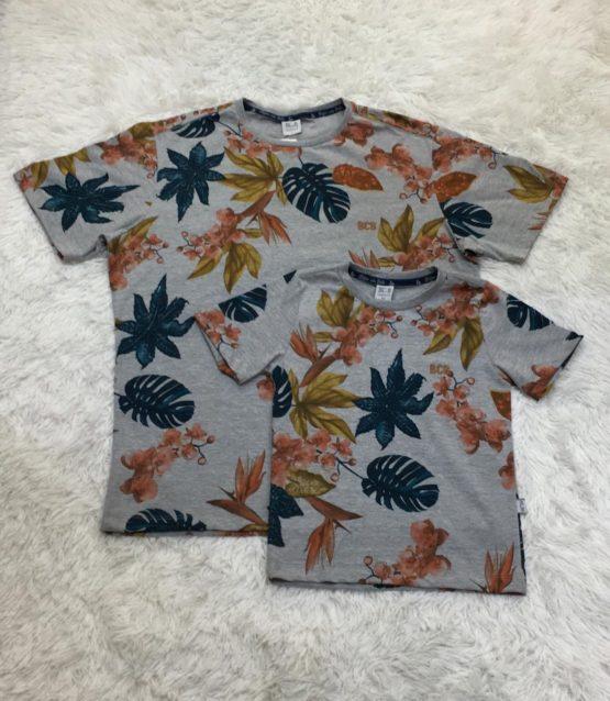 Camiseta Estampa Folhas Pai