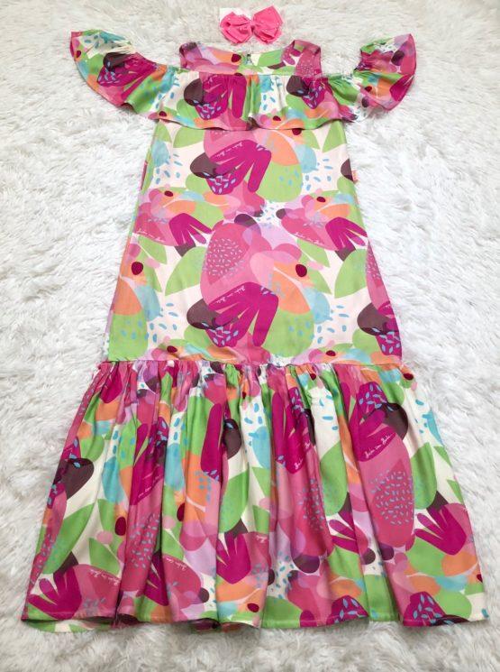 Vestido Coleção Color Longo
