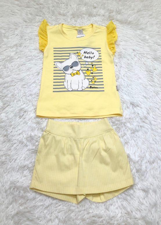 Conjunto Amarelo Cachorro