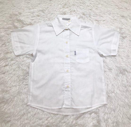 Camisa Botão Branca MC