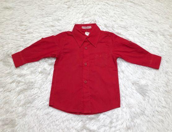 Camisa Botão Vermelha ML