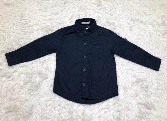 Camisa Botão Azul Marinho ML