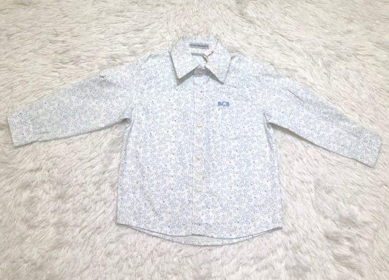 Camisa Botão Folhas Azul ML