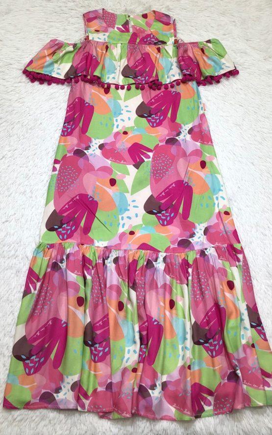 Vestido Viscose Coleção Color Pompom