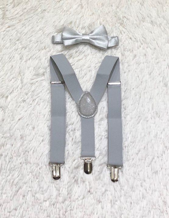 Gravata Borboleta Prata