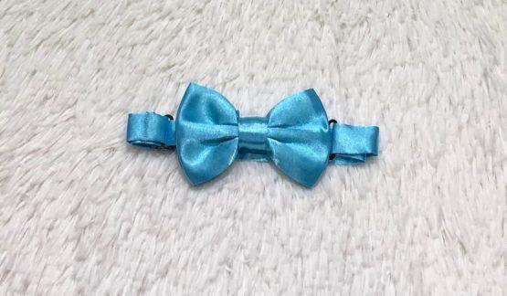 Gravata Borboleta Azul Claro Cetim
