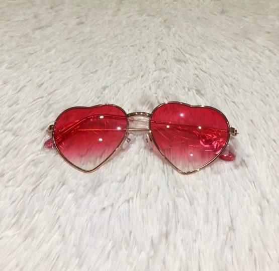 Óculos Coração Rosa Degradê