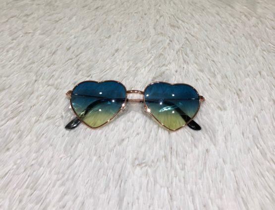 Óculos Coração Degradê Verde