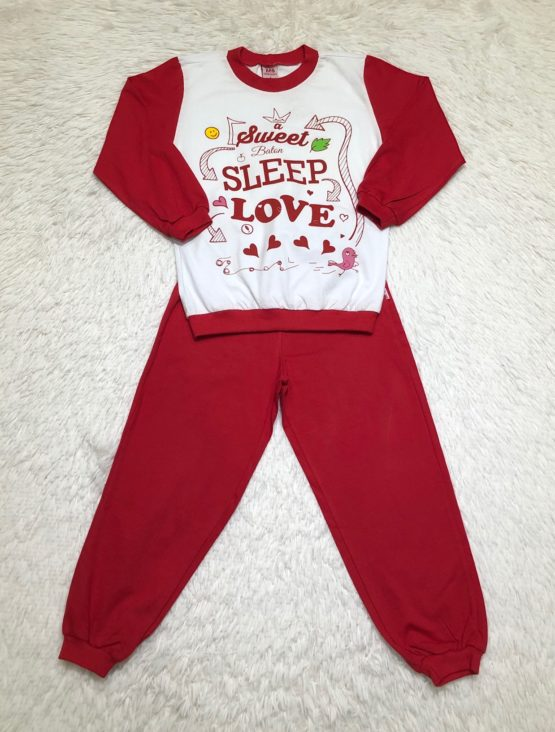 Pijama Love Vermelho