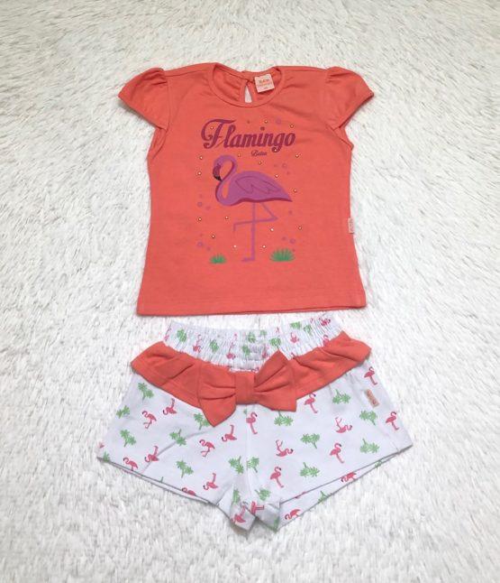 Conjunto Flamingo Laranja