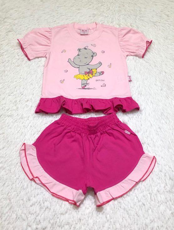 Pijama Silk Hipopótamo Bailarina