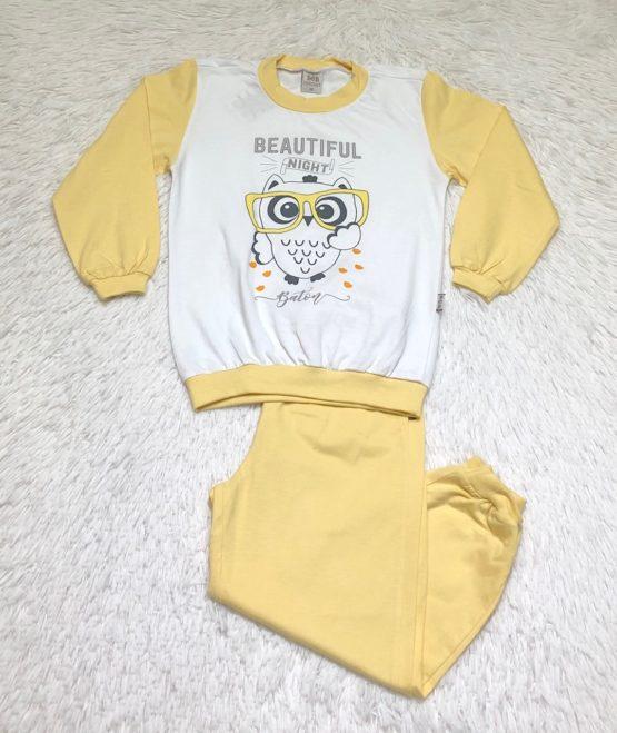 Pijama Silk Coruja