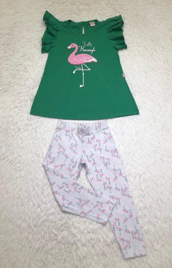 Conjunto de Blusa e Legging do Flamingo