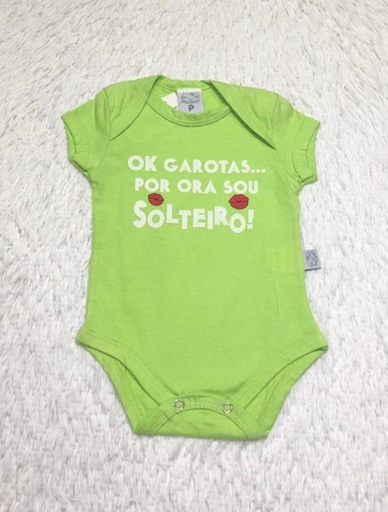 Body Baby Sou Solteiro Verde