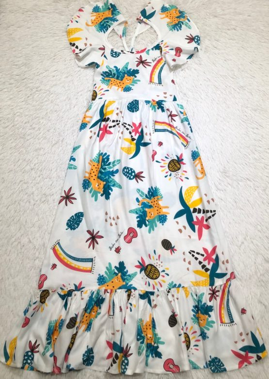 Vestido Longo Coleção Onça Pintada Filha