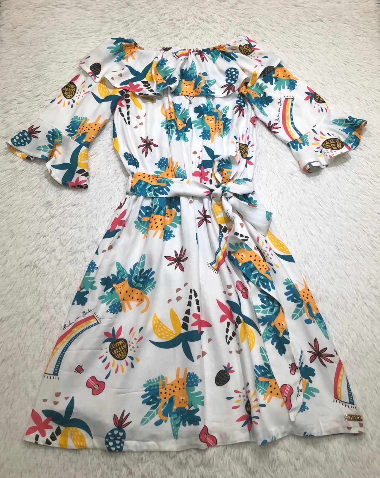 Vestido Coleção Onça Pintada Mãe