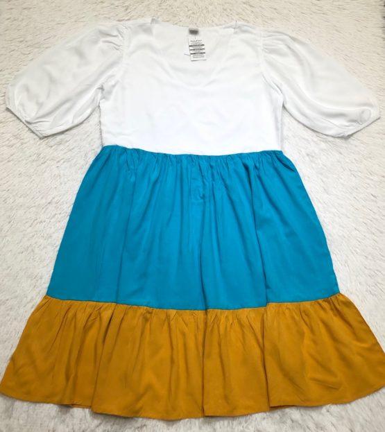 Vestido Mãe Tricolor