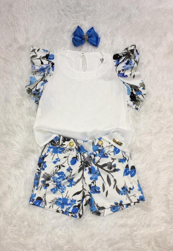Conjunto Flores azul