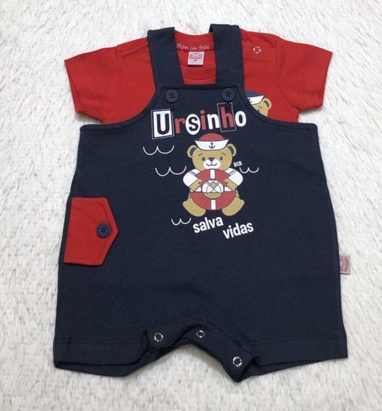 Conjunto Salopete Baby Ursinho