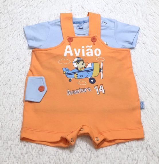 Conjunto Salopete Baby Avião