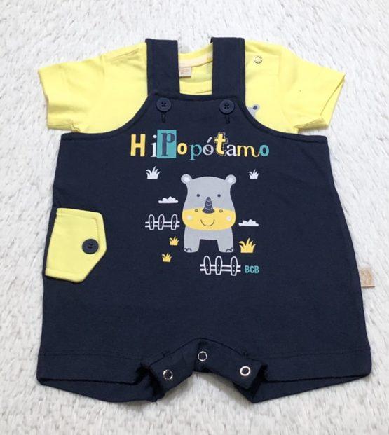Conjunto Salopete Baby Hipopótamo