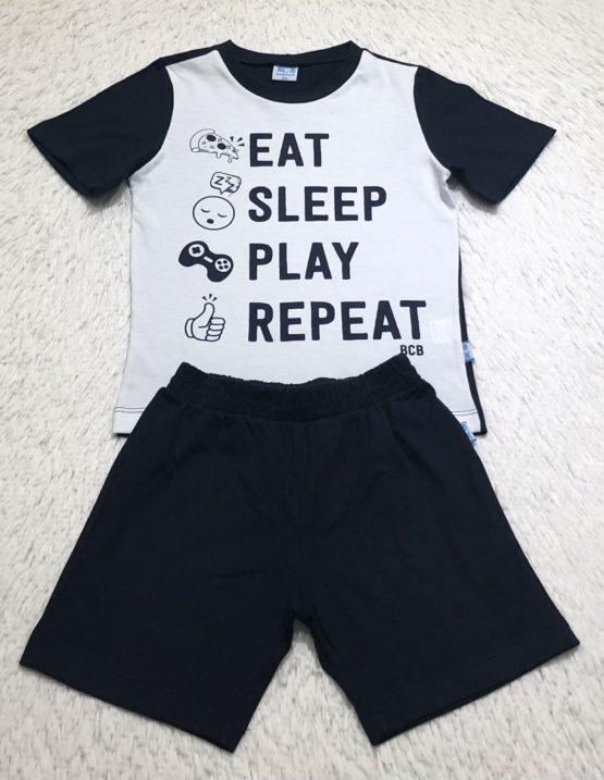Pijama Marinho/Branco