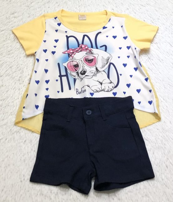 Conjunto de Blusa e Short Dog