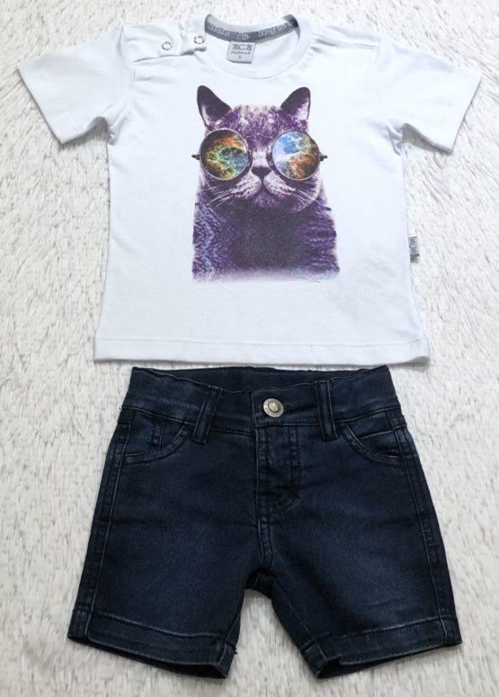Camiseta Filho Silk Gatinho