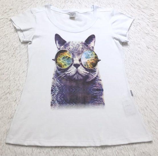 T-Shirt Mãe Silk Gatinho